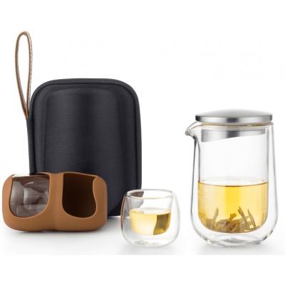 Дорожный набор для заваривания чая SAMADOYO L-005S с двумя пиалами и чехлом