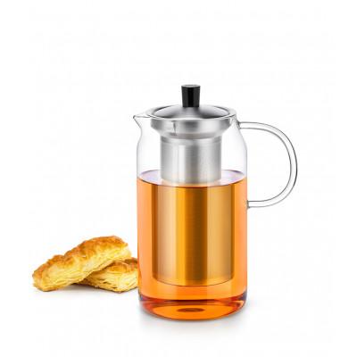 Стеклянный заварочный чайник с  фильтром  SAMADOYO S-046 1200 мл